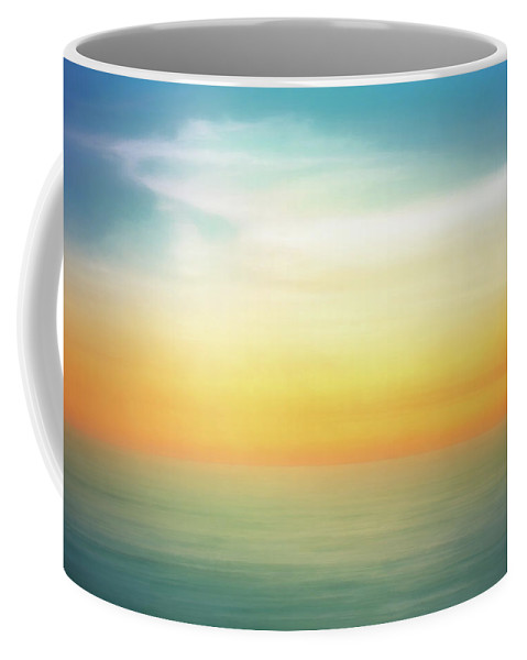 Pastel Coffee Mug featuring the digital art Pastel Sunrise by Scott Norris