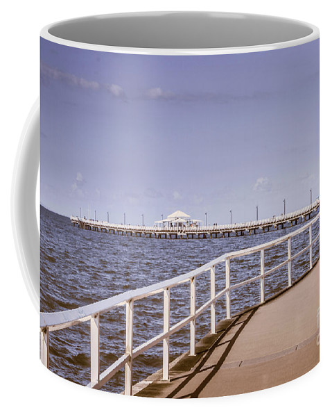 Pier Coffee Mug featuring the photograph Pastel Tone Sea Pier Landscape by Jorgo Photography - Wall Art Gallery