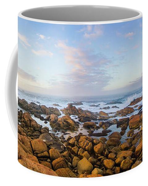 Landscape Coffee Mug featuring the photograph Pastel Tone Seaside Sunrise by Jorgo Photography - Wall Art Gallery