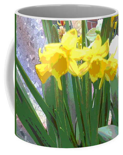 Tulips Coffee Mug featuring the digital art Pastel Tulips by Tim Allen