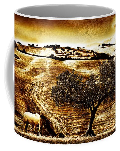 Landscape Coffee Mug featuring the photograph Pastelero Textures by Mal Bray