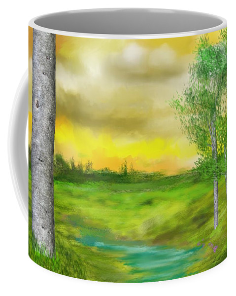 Landscape Coffee Mug featuring the digital art Pastoral by David Lane