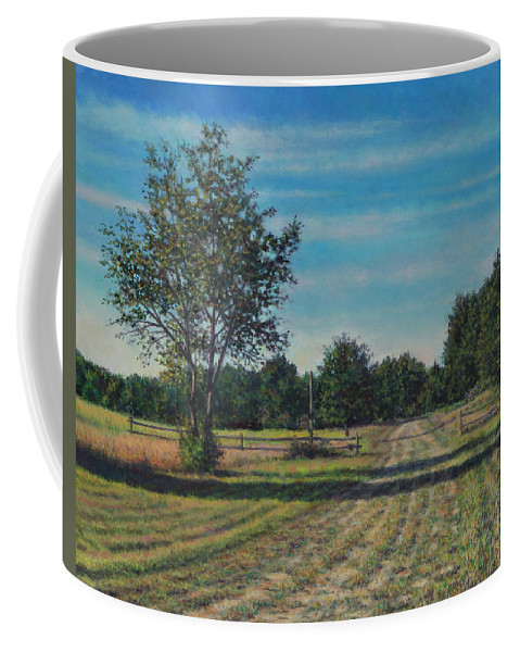 Pastoral Coffee Mug featuring the painting Pastoral Off Poplar Hill Road by David P Zippi