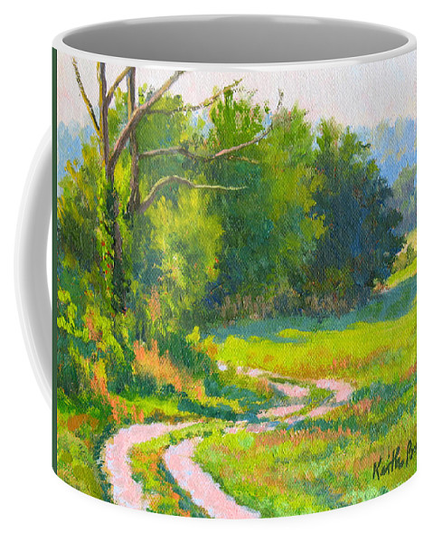 Landscape Coffee Mug featuring the painting Pasture Road by Keith Burgess