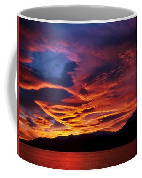 Patagonia Coffee Mug featuring the photograph Patagonian Sunrise by Joe Bonita