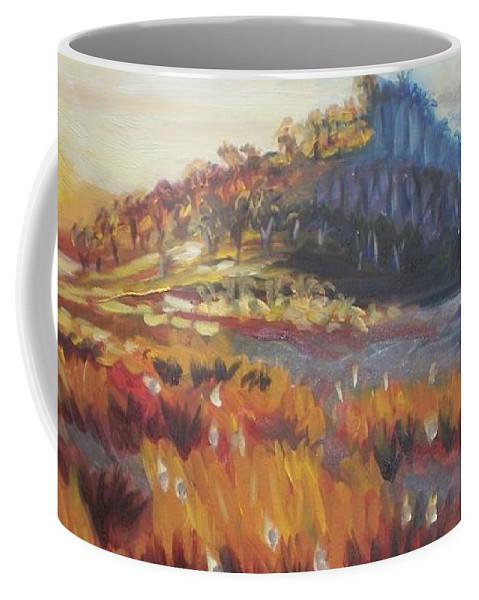Landscape Coffee Mug featuring the painting Pataua by Elena Sokolova