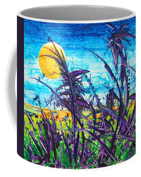 Landscape Coffee Mug featuring the painting Patch of Field Grass by Rollin Kocsis