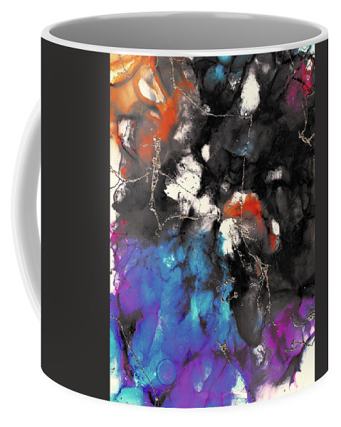 Painting Coffee Mug featuring the painting Patches Of Orange by Louise Adams