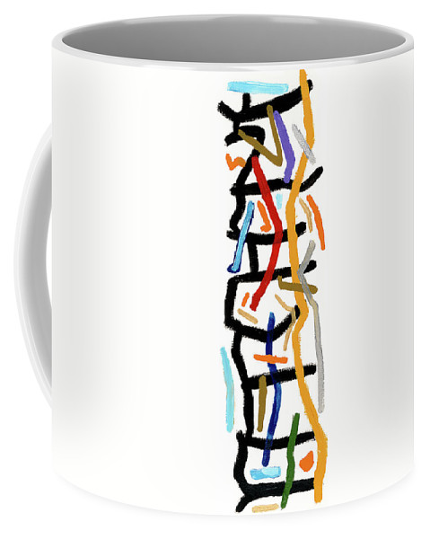 Abstract Coffee Mug featuring the painting Patchwork by Bjorn Sjogren