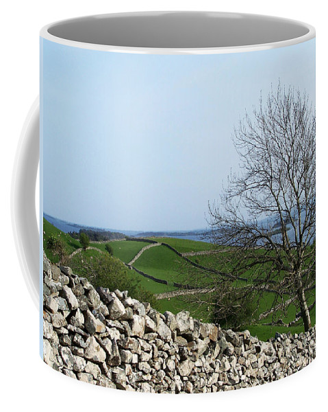 Irish Coffee Mug featuring the photograph Patchwork Quilt Lough Corrib Maam Ireland by Teresa Mucha