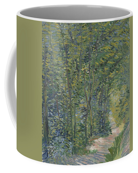 Nature Coffee Mug featuring the painting Path In The Woods Paris, May 1887 - July 1887 Vincent Van Gogh 1853 1890 by Artistic Panda