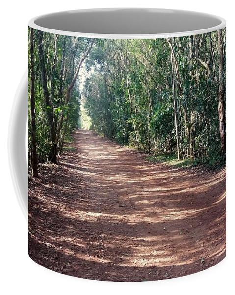 Jungle Coffee Mug featuring the photograph Path Into The Jungle by Silvana Miroslava Albano