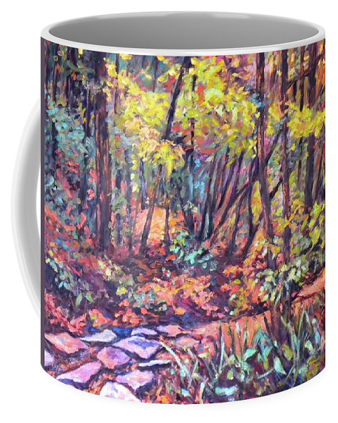 Landscape Coffee Mug featuring the painting Path Near Pandapas by Kendall Kessler