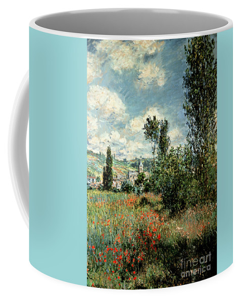 Path Coffee Mug featuring the painting Path through the Poppies by Claude Monet