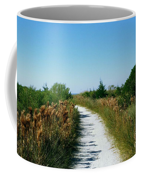 Sandy Path Coffee Mug featuring the photograph Path To Paradise by Gary Wonning