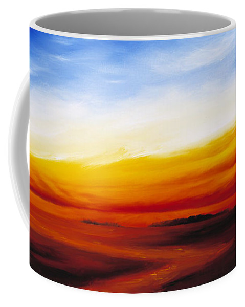 Sunrise Coffee Mug featuring the painting Path To Redemption by James Christopher Hill