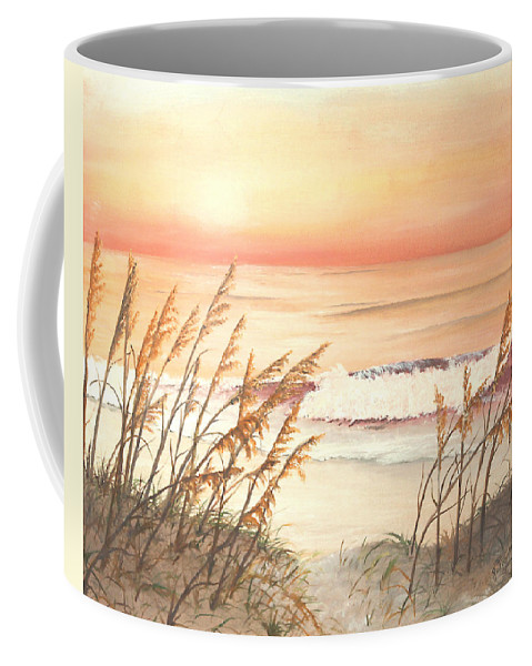 Nature Coffee Mug featuring the painting Path To Sunlit Waters by Johanna Lerwick