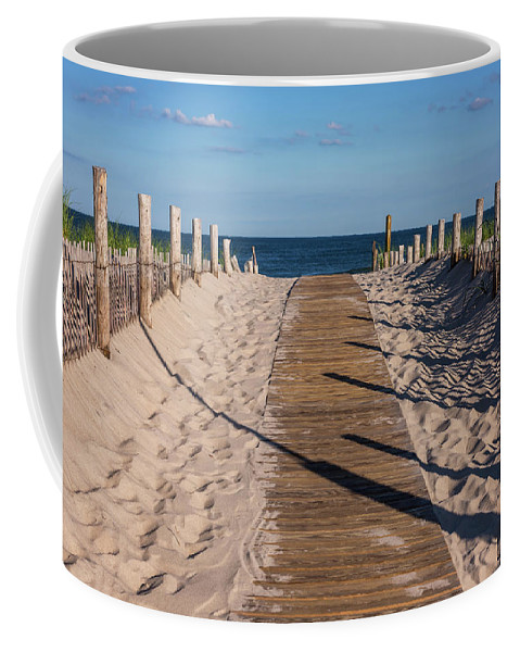Terry D Photography Coffee Mug featuring the photograph Pathway To Beach Seaside New Jersey by Terry DeLuco