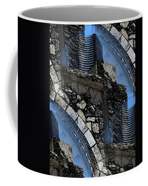 Pathway Coffee Mug featuring the digital art Pathway To Present by Tim Allen