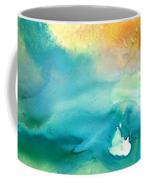 Abstract Art Coffee Mug featuring the painting Pathway To Zen by Sharon Cummings