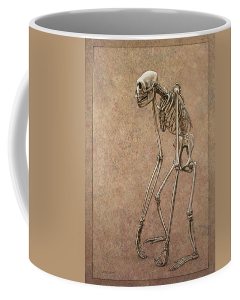Patience Coffee Mug featuring the drawing Patient by James W Johnson