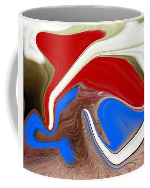 Abstract Coffee Mug featuring the photograph Patriot by Allan Hughes