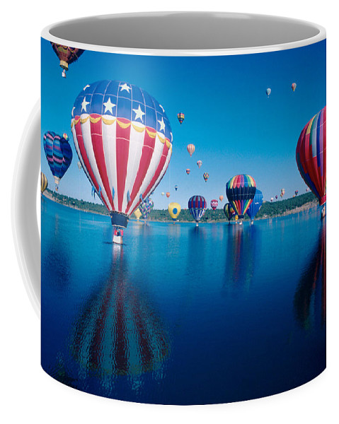 Hot Air Balloons Coffee Mug featuring the photograph Patriotic Hot Air Balloon by Jerry McElroy