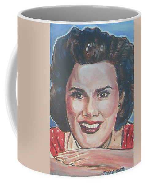 Patsy Cline Coffee Mug featuring the painting Patsy Cline by Bryan Bustard