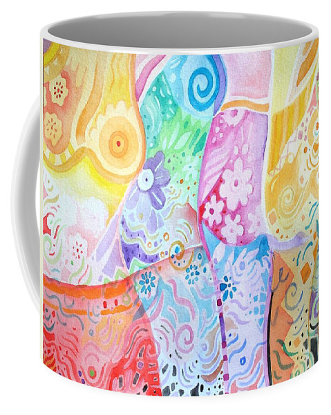 Woman Coffee Mug featuring the painting Pattern And Form I by Helena Tiainen