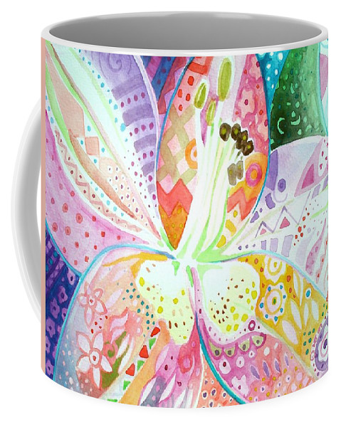 Flower Coffee Mug featuring the painting Pattern And Form II by Helena Tiainen