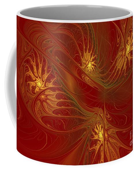 Digital Coffee Mug featuring the digital art Pattern Of Elegance by Deborah Benoit