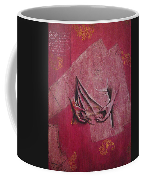Hands Coffee Mug featuring the painting Pattern Pieces by Rowena Finn