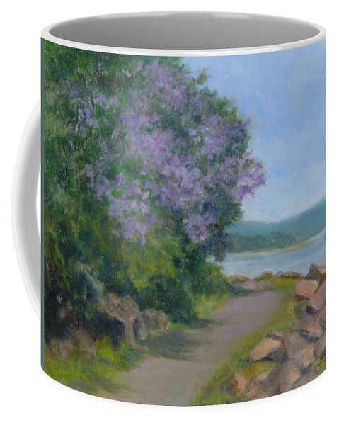 Oil Landscape Coffee Mug featuring the painting Paulownia Along The Nyack Trail by Phyllis Tarlow