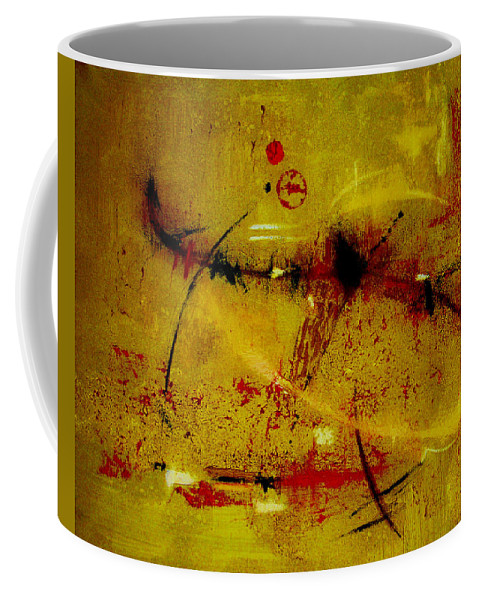 Abstract Coffee Mug featuring the painting Pay More Careful Attention by Ruth Palmer