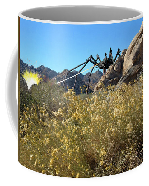 Spider Coffee Mug featuring the digital art Payback by Snake Jagger