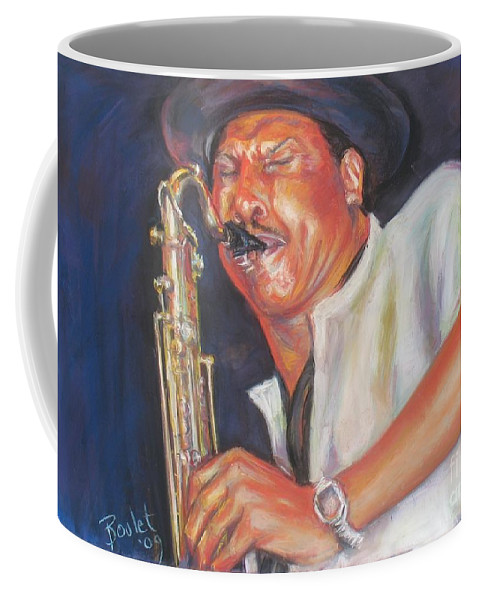 Portrait Coffee Mug featuring the painting Pdaddyo by Beverly Boulet
