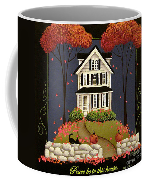 Art Coffee Mug featuring the painting Peace Be To This House by Catherine Holman