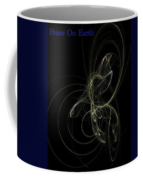 Abstract Digital Painting Coffee Mug featuring the digital art Peace On Earth by David Lane