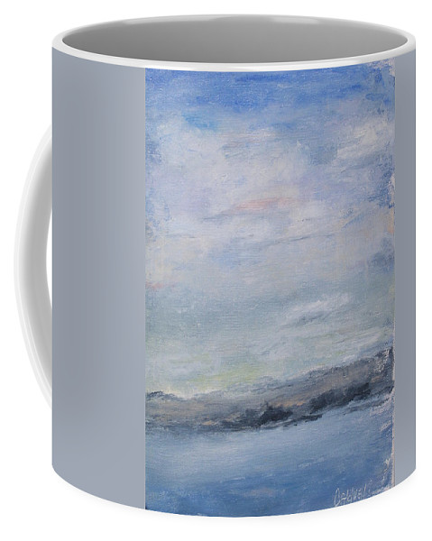Sky Coffee Mug featuring the painting Peace by Patricia Caldwell