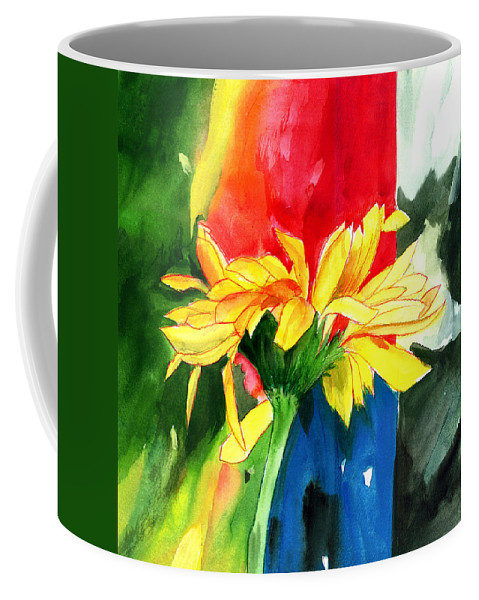 Peace Coffee Mug featuring the painting Peace Square by Anil Nene