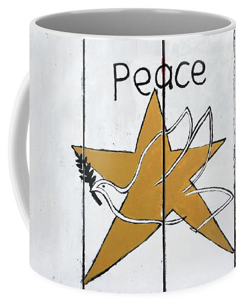 Bethlehem Star Coffee Mug featuring the photograph Peace Star by Munir Alawi