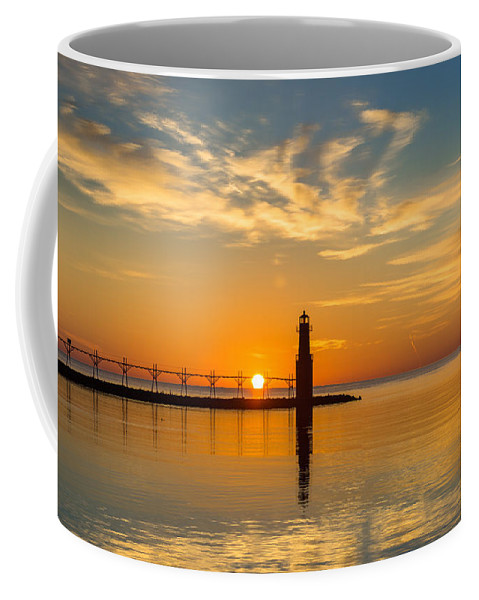 Lighthouse Coffee Mug featuring the photograph Peace Unto You by Bill Pevlor