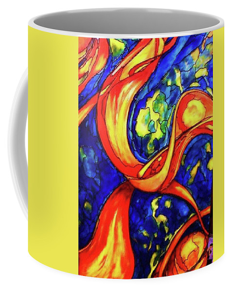 Original Art Coffee Mug featuring the painting Peaceful Coexistence by Rae Chichilnitsky
