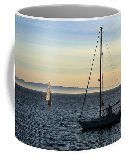 Clay Coffee Mug featuring the photograph Peaceful Day In Santa Barbara by Clayton Bruster