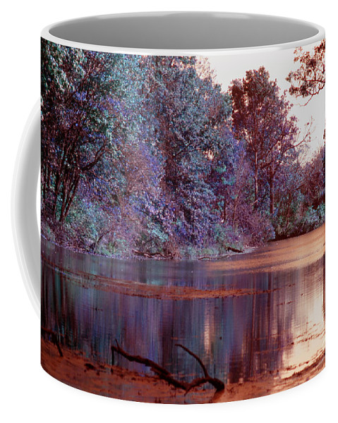 Infrared Coffee Mug featuring the photograph Peaceful In Infrared No2 by Alan Look
