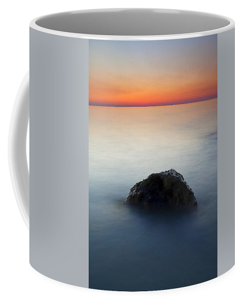Rock Coffee Mug featuring the photograph Peaceful Isolation by Mike Dawson