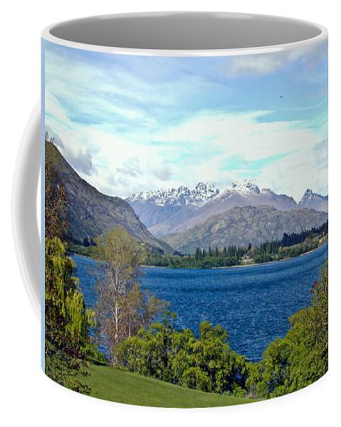Lake Coffee Mug featuring the photograph Peaceful Lake -- New Zealand by Douglas Barnett