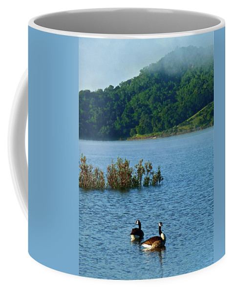 Landscape Coffee Mug featuring the photograph Peaceful Morning by Diana Hatcher