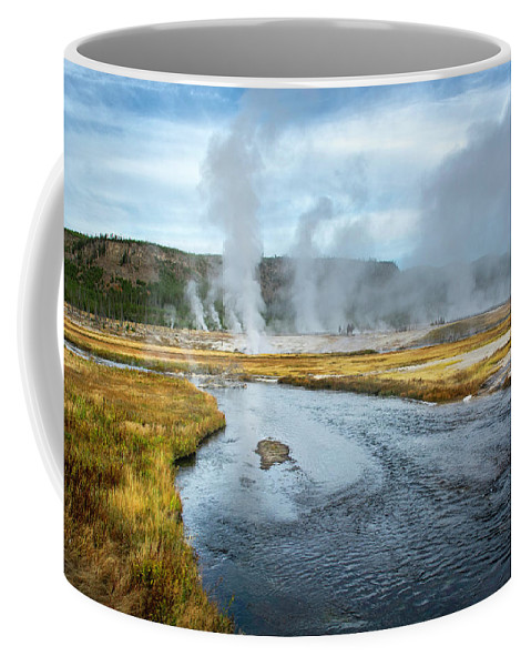Yellowstone Coffee Mug featuring the photograph Peaceful River by Scott Read