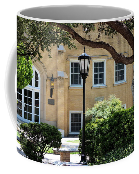 New Mexico Coffee Mug featuring the photograph Peaceful Seating Area In New Mexico by Colleen Cornelius